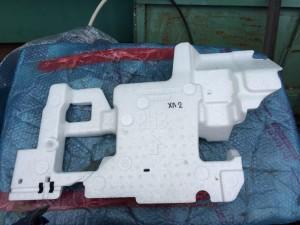 Изолятор (пенопласт) напольный правый Toyota Highlander II (U40)