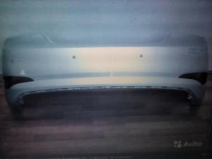 Бампер задний Солярис седан с 15г серебристый rhm Hyundai Solaris I Рестайлинг Седан