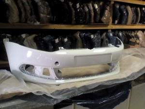 Бампер передний поло 10г седан белый (b4b4) Volkswagen Polo V Седан