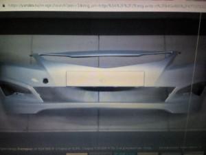 Бампер передний Солярис с 14г серебристый rhm Hyundai Solaris I Седан