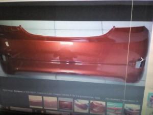 Бампер задний Солярис седан с 11г цвет красный гранат tdy Hyundai Solaris I Седан
