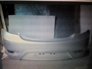 Бампер задний Солярис с 11г  хечбек серебристый rhm Hyundai Solaris I Хэтчбек 5дв.