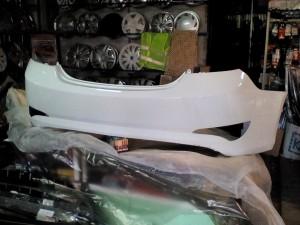 Бампер задний Солярис седан с 15г белый pgu Hyundai Solaris I Рестайлинг Седан