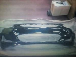 Бампер Солярис с 11 года черный mzh Hyundai Solaris I Седан