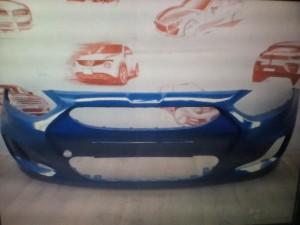 Бампер Солярис с 11 года синий wgm Hyundai Solaris I Седан